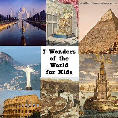 7 Wonders of the World - ancient and modern - for Kids.