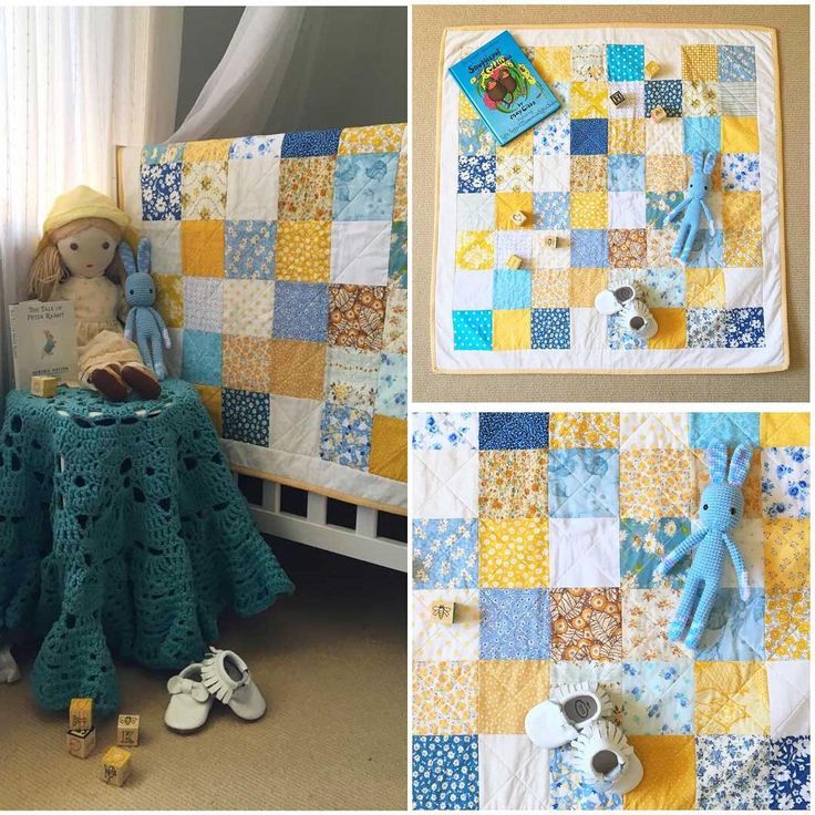 Available now in my shop! Fresh & bright Blue, Yellow & White Play Mat perfect for a gender neutral nursery.  Made from quality cotton fabric , it measures 35.5x35.5 inches.  ➡️ link to shop in bio   #missleelahandmade #etsyshop #etsyau #handmade  #patchwork #patchworkquilt #quilt #playmat #babyquilt #cotquilt #nurserydecor