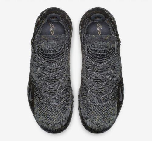 f22363e760be Nike Zoom KD XI 11 Black Grey Metallic Gold Gray AO2604-901 KDXI Kevin  Durant