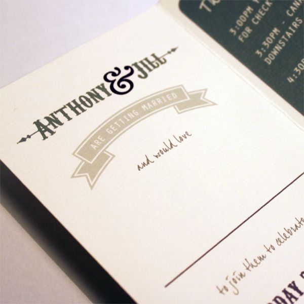 'Boutique Hotel' concertina Invitation.