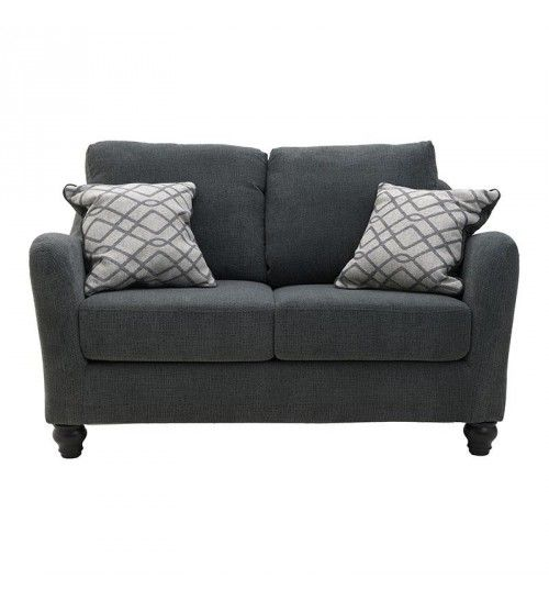 FABRIC 2 SEATER SOFA IN DARK GREY COLOR 152X94X92_50