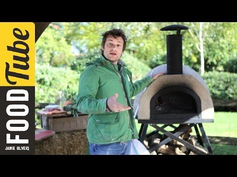 Jamie Oliver shows you how to cook pizza in a wood fired oven - YouTube