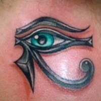 eye of horus tattoo - strength