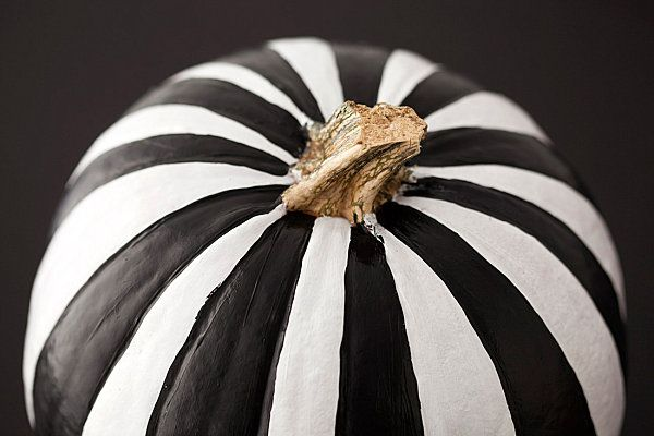 Black and white striped pumpkin. I loved black and white stripes before it was popular.