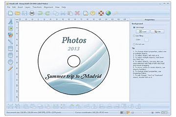 template for cd cover  Download CD Front Double insert template with RonyaSoft label software
