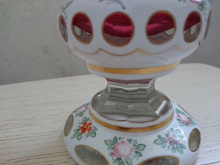 резерв! ваза двойное стекло клюква 24 см (торги завершены #64215873)