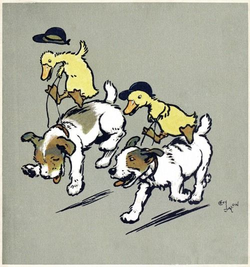 They were made to gallop, to canter, to trot.  Cecil Aldin, from Cecil Aldin's merry party, told by May Byron, London, 1913.  (Source: archive.org)