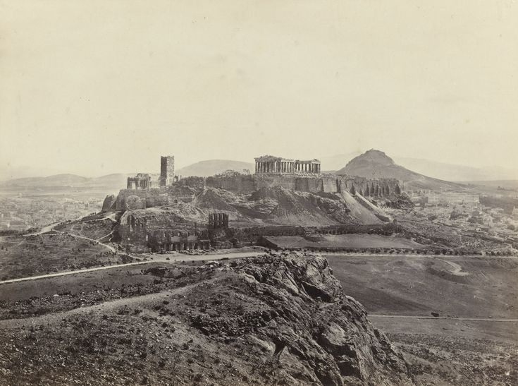 "Francis Frith. Athens, with the Acropolis (#619). c. 1860. Albumen silver print. 6 x 8 1/2"" (15.2 x 21.0 cm). Anonymous gift. 626.1976. Photography"