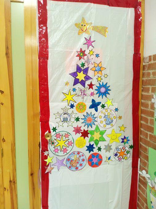 8 mejores im genes sobre puertas decoradas en pinterest for Puertas decoradas navidad material reciclable