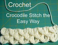 Crocodile stitch - I know that I have pinned this stitch before, but this one is done a little different. I think I like it better. I now do a combination of the two. I like how this one shows you how to start the new rows. It's a lot less confusing and cleaner looking. So excited for the new blanket I'm making with this stitch.