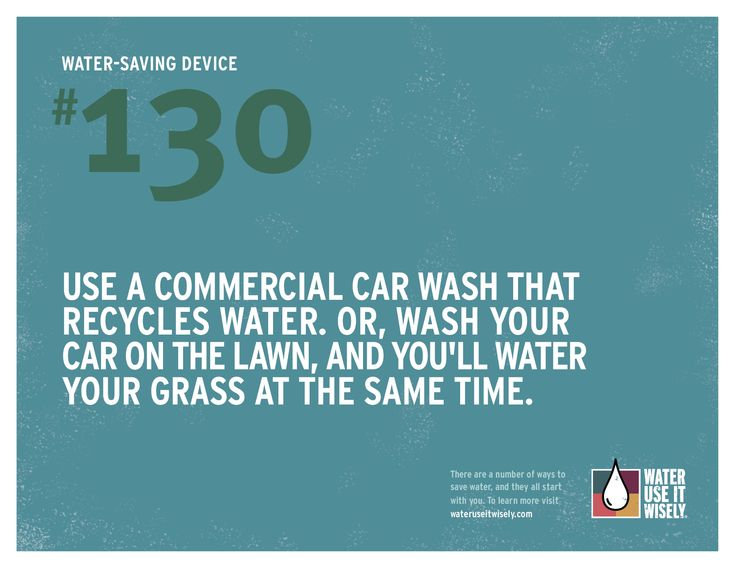 100+ Ways To Conserve - Water Use It Wisely