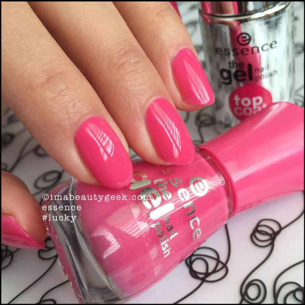 Essence Nail Polish: Essence #Lucky with Top Coat. Lotsa Essence swatches at imabeautygeek.com