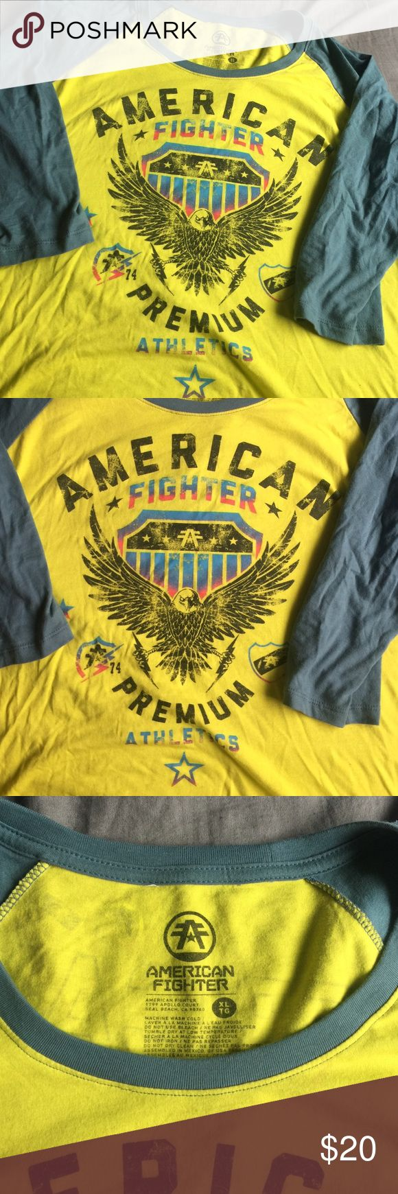 American Fighter shirt Only worn once - awesome American fighter shirt from the buckle American Fighter Tops Tees - Long Sleeve