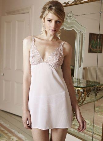 Rose Silk Georgette Babydoll from Fleur of England ...