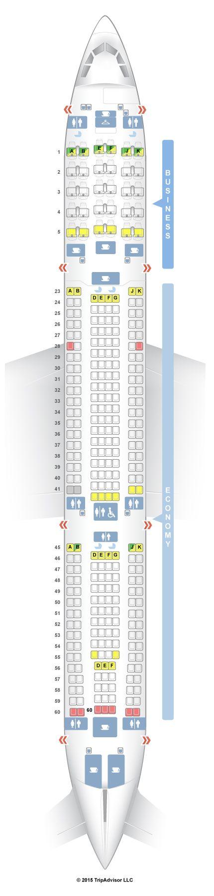 SeatGuru Seat Map Qantas Airbus A330-300 (333) V1