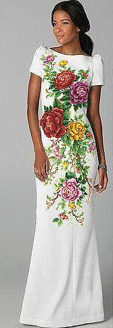Ucraniano a mano con cuentas Maxi vestido/de la semilla del grano del bordado/peonías/ganchillo/vestido hecho a mano Vyshyvanka - XS, S, M, L, XL, 2-4XL - todos los tamaños!