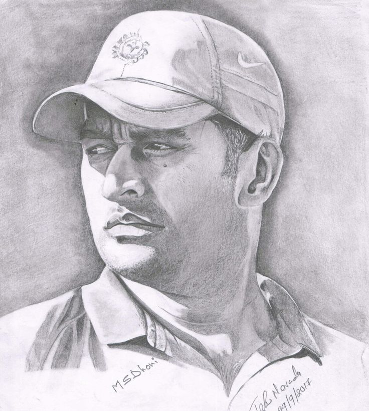 Ms dhoni my pencil drawing