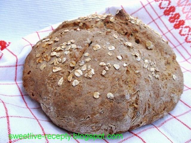 .. z lásky k vareniu ...: Nekysnutý celozrnný chlieb I.