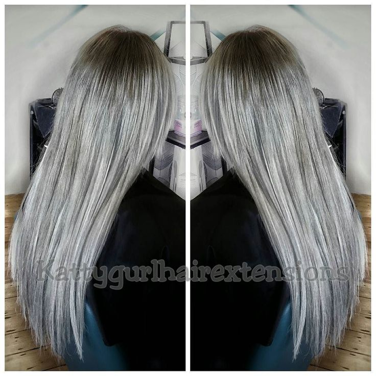 Another beautiful Silver/Grey on a blonde canvas waiting for patiently for this dream. #dream #dreams #true #patience #Kattygurlhairextensions