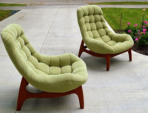 Oh my. Love these! 1968 Huber Lounge Chairs | R.Huber & Co. |