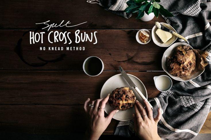 Spelt Hot Cross Buns (No Knead Method)  |  Gather & Feast
