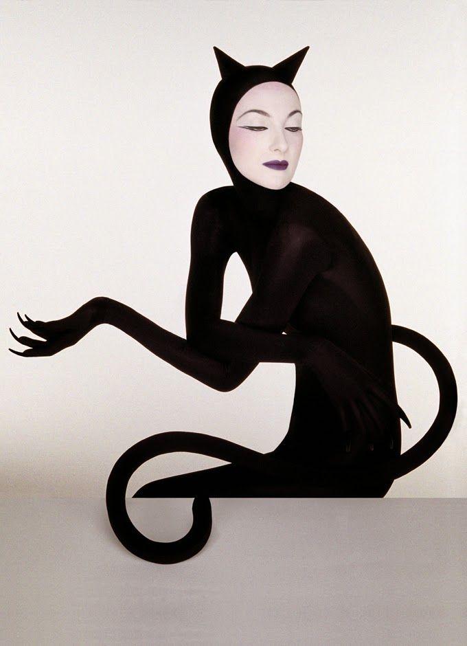 THE CAT WOMAN Serge Lutens: Berlin to Paris #fashion #black #cat #avantguard