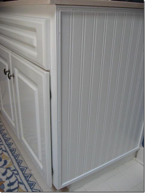 Best 25 wallpaper cabinets ideas on pinterest open for Beadboard on kitchen cabinets
