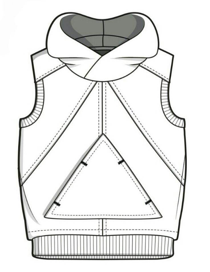 Technical flats // kids clothes // girls playsuit // baby hoodie pattern /// planos técnicos // desenhos técnicos para bebés // padrão hoodie bebés