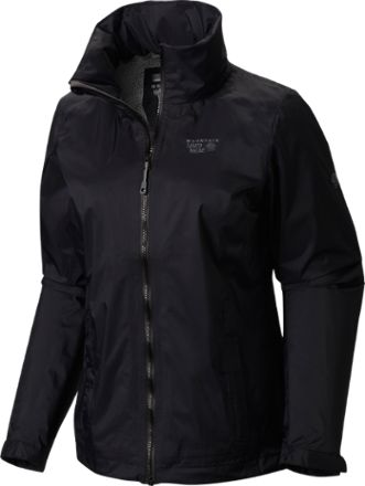 Mountain Hardwear Women's Plasmic Ion Rain Jacket Black XL