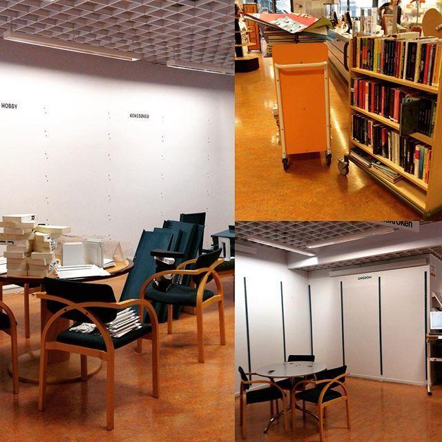 I dag skjer det forandringer på biblioteket! Ungdommen skal få ny avdeling! Vi beklager støy og rot mens vi holder på. #loddefjord #bibliotek #loddefjordbibliotek #nyungdomsavdeling