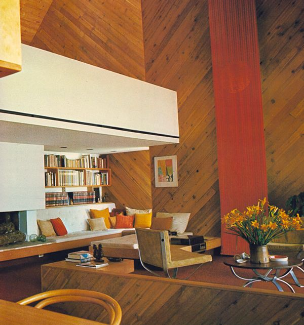 Best 1970S Living Room Wooden Paneled Modern Bohemian For The 640 x 480