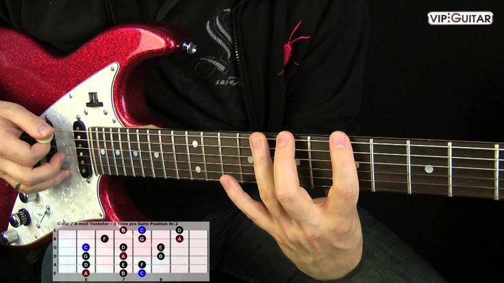 """Die 7 Durtonleitern: """"C-dur / A-moll Tonleiter Position Nr.2"""""""