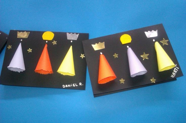 Idees magistrals: Postal de nadal: Reis Mags a l'estil minimalista