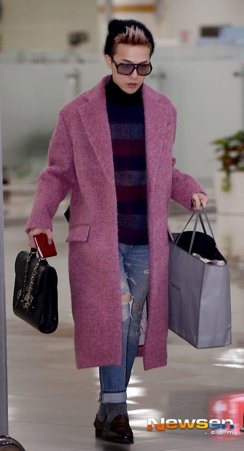gdragon airport fashion kpop big bang
