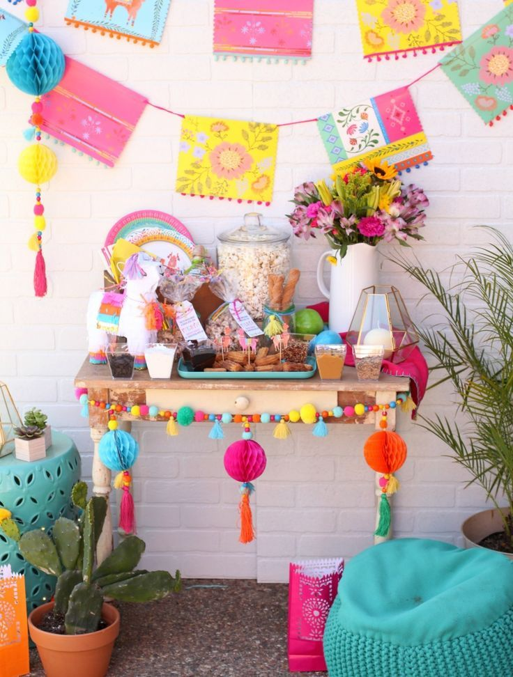 Boho Chicks And Churros Cinco De Mayo Party With Images Fiesta Theme Party Fiesta Birthday Party Cactus Party