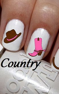 Country nail art
