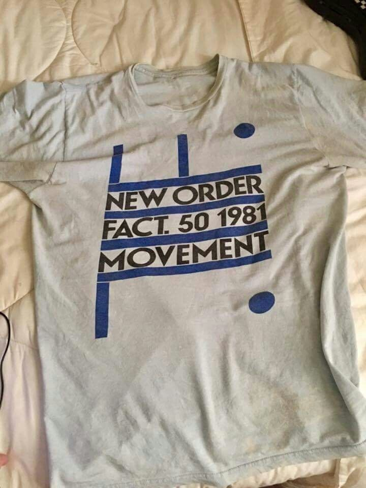 New Order t-shirt Joy Division, vintage rare blue movement  | eBay