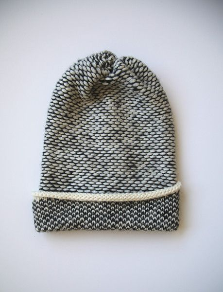 Seed Stitch Wool Hat Cream