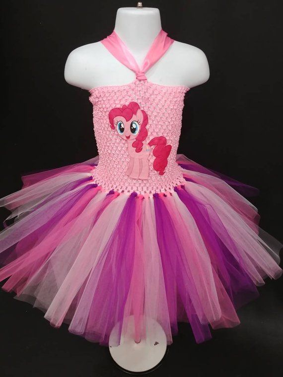 Inspired Pinkie Pie Pink Sparkly Little Pony Tutu Dress Handmade Babies girls