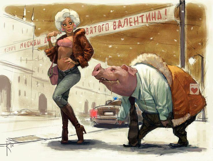 Valentin and Valentina by Waldemar-Kazak on DeviantArt