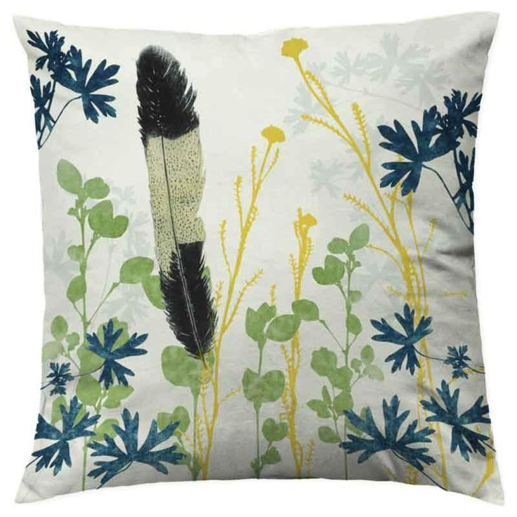 Designer cushion cover - Black Cockatoo Feather www.trudyricecollection.com