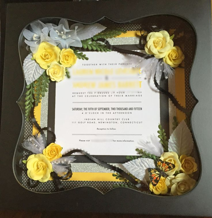Wedding Invitation Gifts Ideas: 17 Best Ideas About Framed Wedding Invitations On