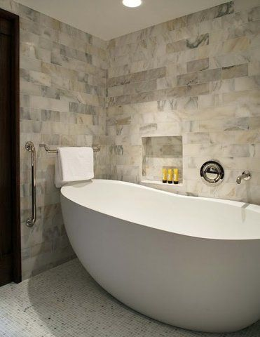 Freestanding tubs are the new Hot Item, this kidney bean ...