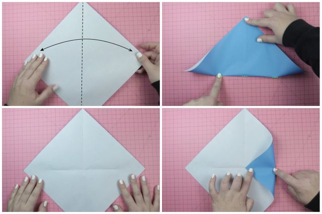DIY Origami Wallet Instructions: DIY Origami Wallet Instructions - Step 1
