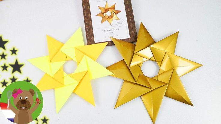 Kerst ideeen! Vouw een kerst ster!