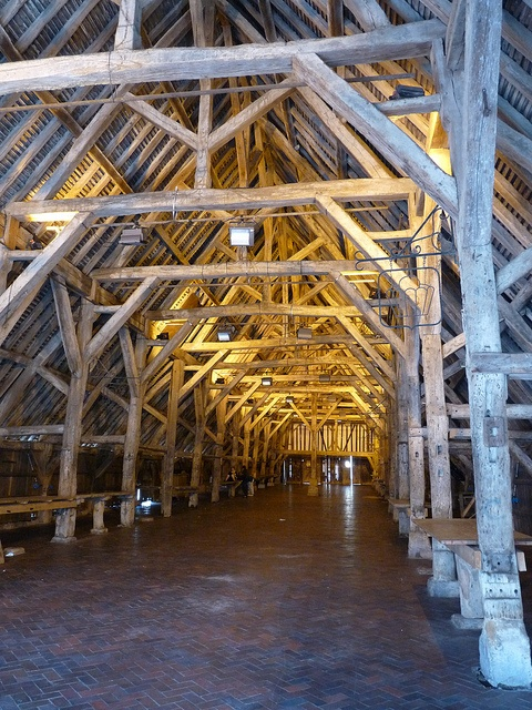 mediaeval market hall (Halles) at Dives-sur-Mer, France: by d0gwalker, via Flickr