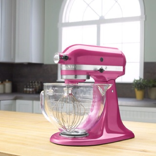Yes, Please!Kitchens Daydream, Kitchenaid Mixer, Exec Pastries, Kitchens Aid Mixer, Dreams House, Blog Post, Wedding Anniversaries, Hot Pink, Pink Kitchens