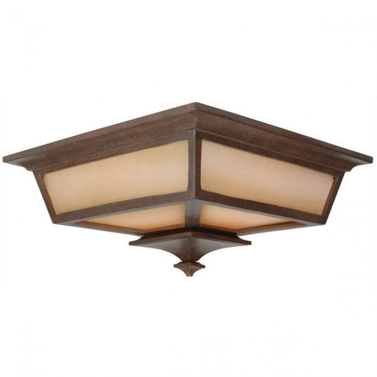 Craftmade Exterior Lighting Argent Outdoor Flush Mount In Aged Bronze    Z1317 98