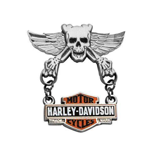 harleydavidson skull wings with trademark bamps dangler pin