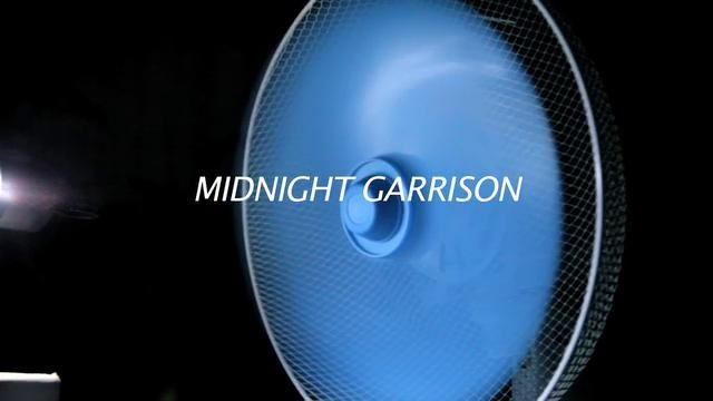 Midnight Garrison by Kensuke Koike. This work consists of 2 sections. At first the audience confronts a screen.
